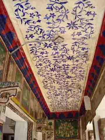 Old bundi school painting inside Haveli